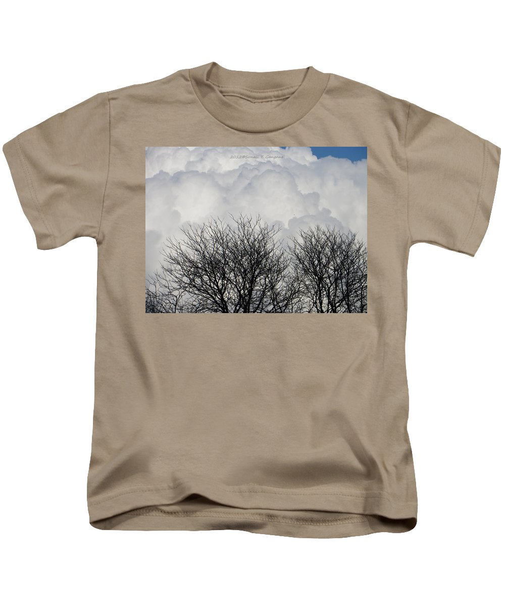 Cotton White Kids T-Shirt featuring the photograph Clouds Named Cotton by Sonali Gangane