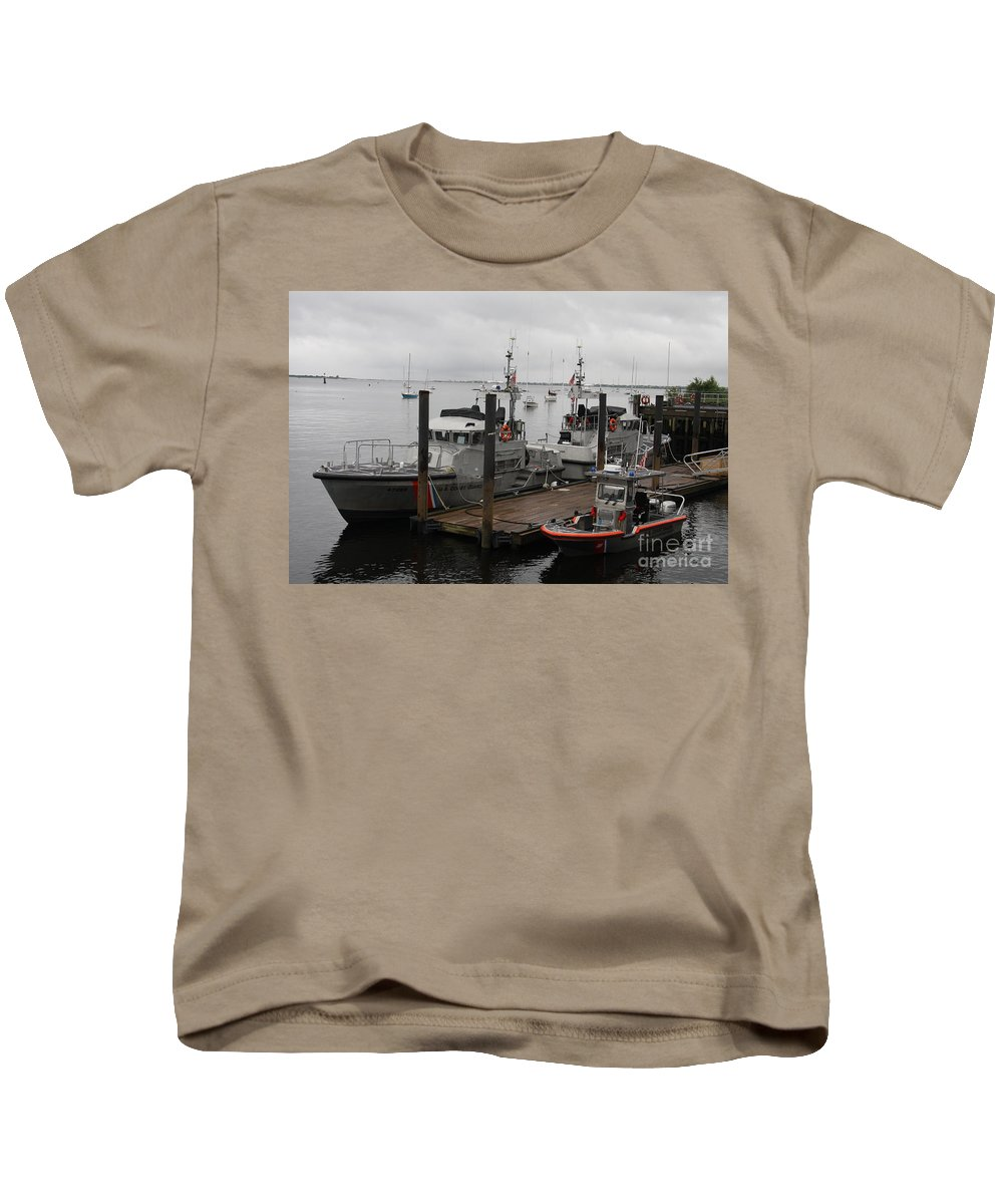 Harbor Kids T-Shirt featuring the photograph Coast Guard Station Cape Ann by Christiane Schulze Art And Photography