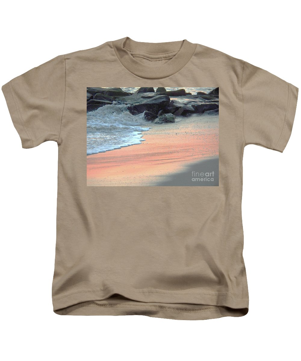 Color Kids T-Shirt featuring the painting Color Of Sand Cape May Nj by Eric Schiabor