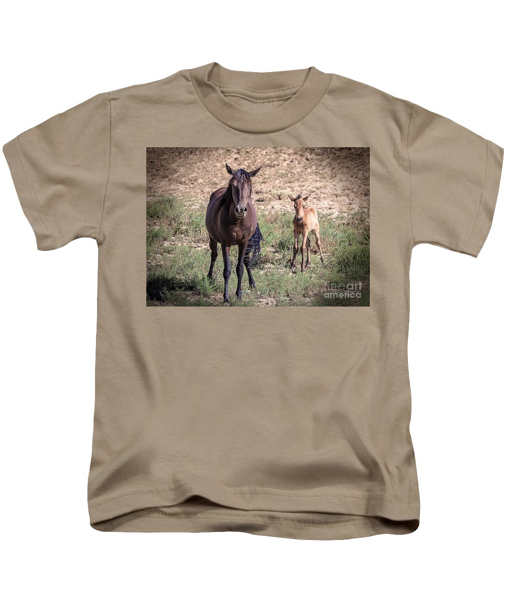 Group Kids T-Shirt featuring the photograph Cortez Colorado Mustangs by Janice Rae Pariza