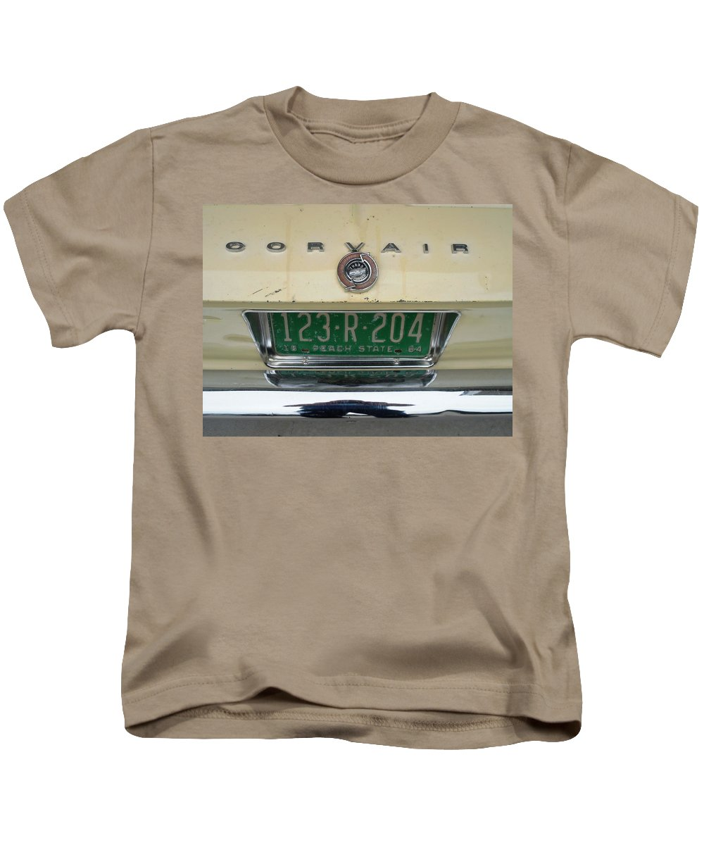 Chevrolet Kids T-Shirt featuring the photograph Corvair by Mike Niday
