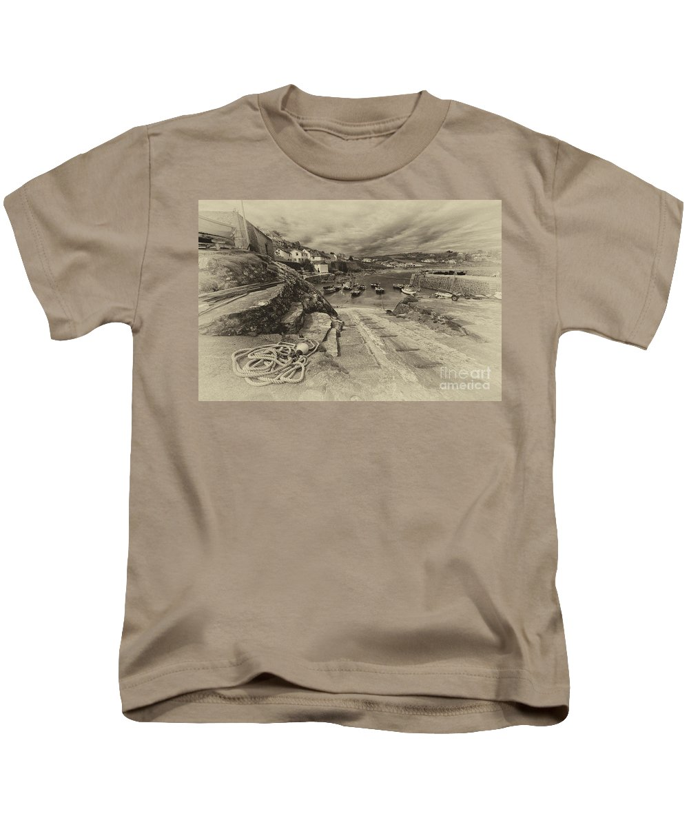 Coverack Kids T-Shirt featuring the photograph Coverack Harbour by Rob Hawkins