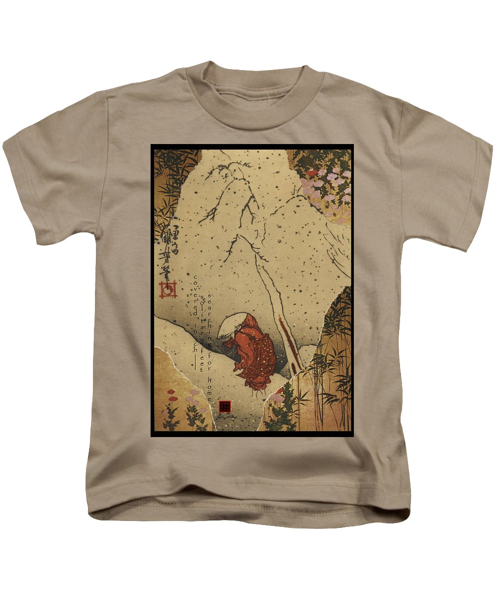 Collage Kids T-Shirt featuring the digital art Covered In Chill by John Vincent Palozzi