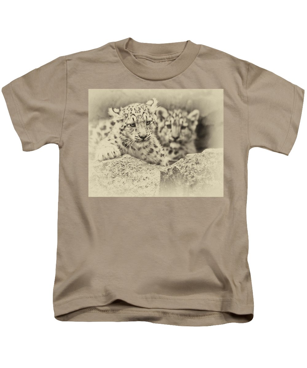 Marwell Kids T-Shirt featuring the photograph Cubs At Play by Chris Boulton