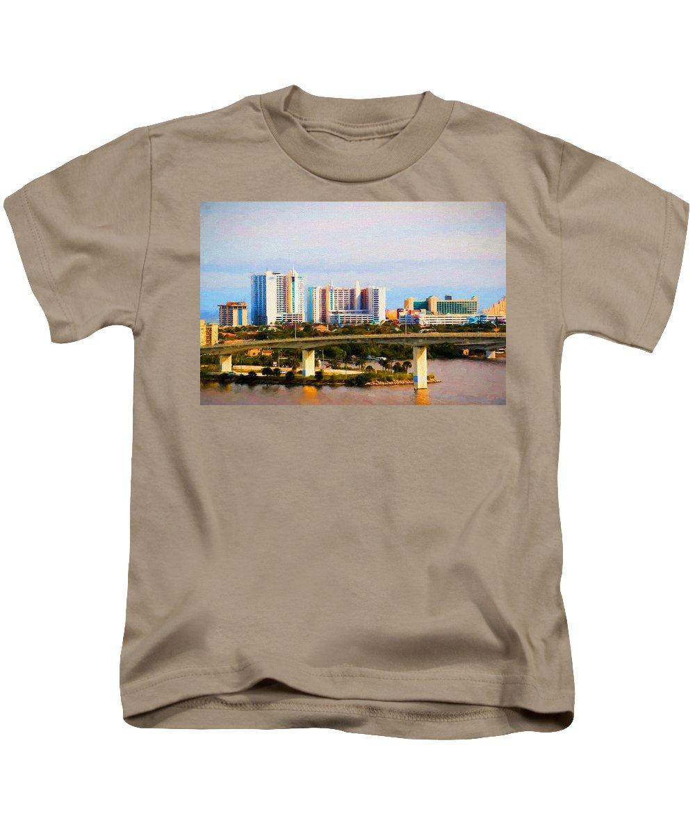 Daytona Beach Kids T-Shirt featuring the photograph Daytona Bridge by Alice Gipson
