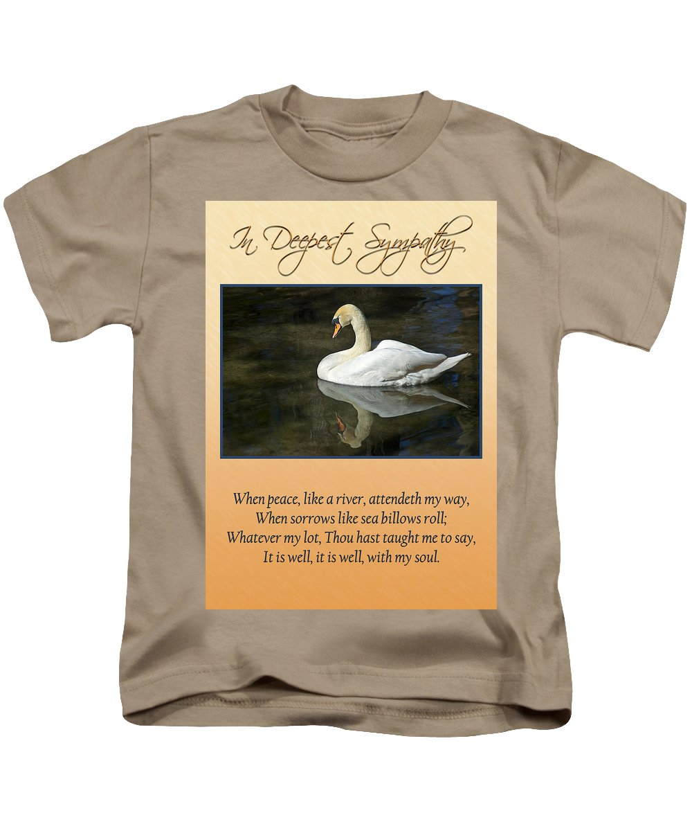 Swans Kids T-Shirt featuring the photograph Deepest Sympathy Card by Carolyn Marshall
