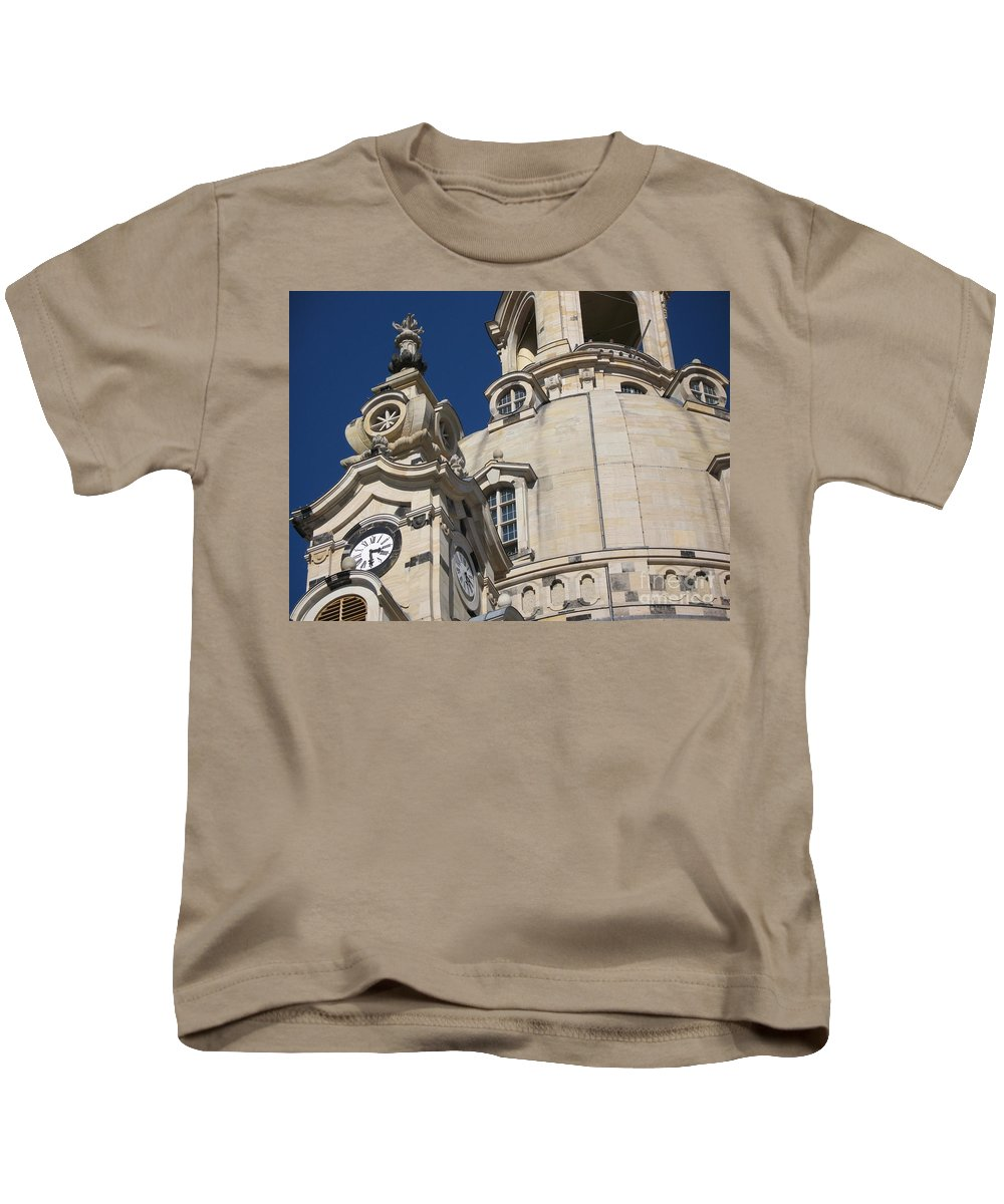 Church Kids T-Shirt featuring the photograph Detail Frauenkirche Dresden by Christiane Schulze Art And Photography