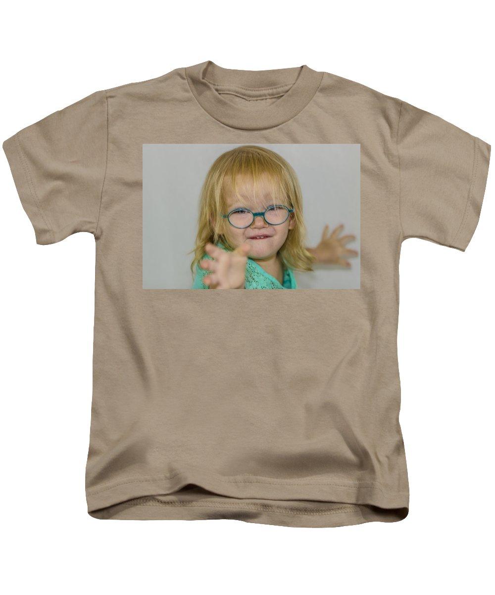 Children Kids T-Shirt featuring the photograph Determination by Stephen Brown