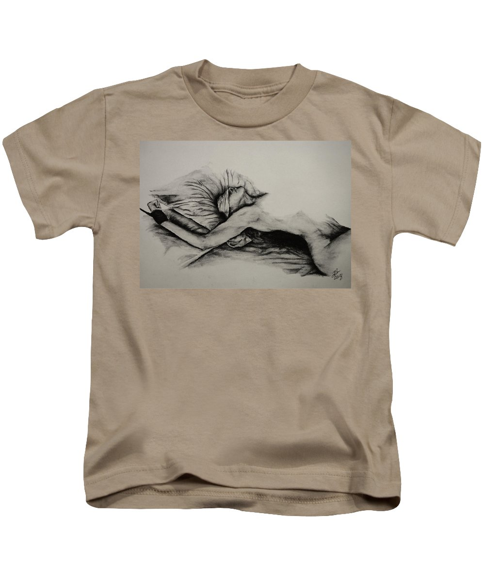 Female Kids T-Shirt featuring the drawing Do As You Wish by Tim Brandt