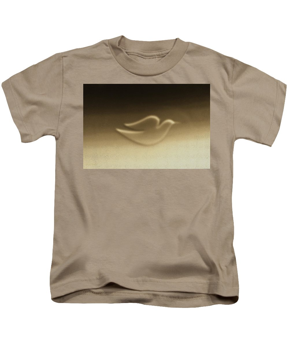 Dove Kids T-Shirt featuring the photograph Dove Sepia by Rob Hans