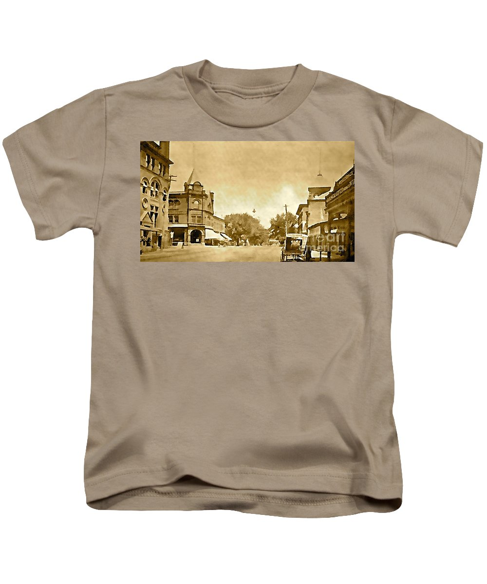 Downtown Kids T-Shirt featuring the photograph Downtown Port Chester by Christy Gendalia