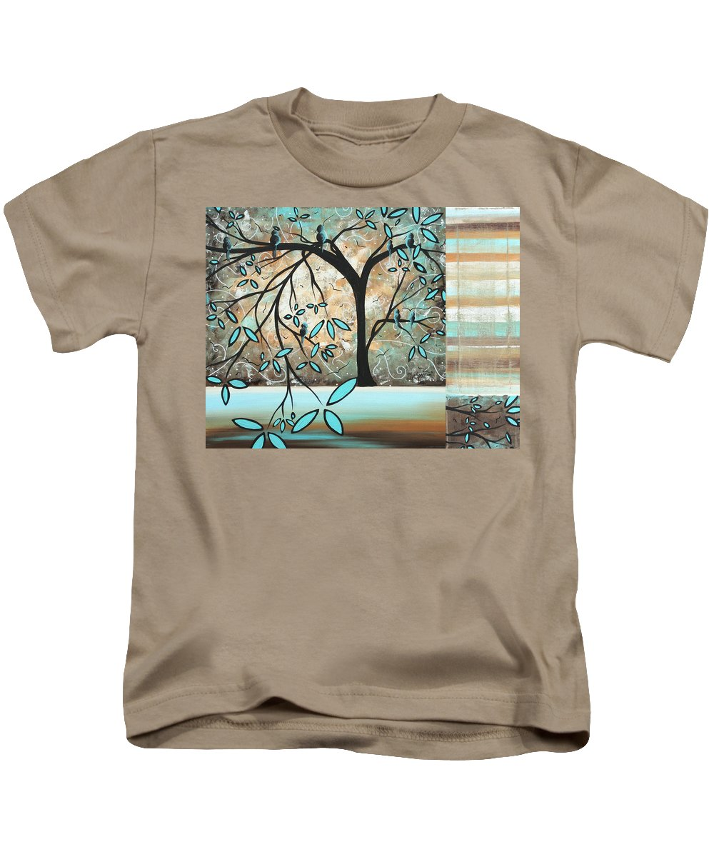 Wall Kids T-Shirt featuring the painting Dream State By Madart by Megan Duncanson