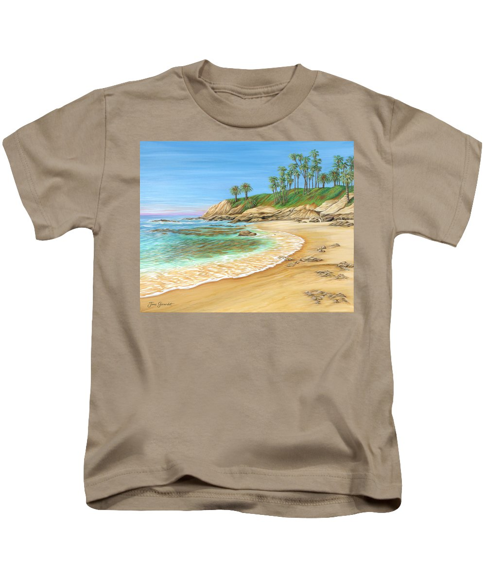 Beach Kids T-Shirt featuring the painting Early Morning Laguna by Jane Girardot