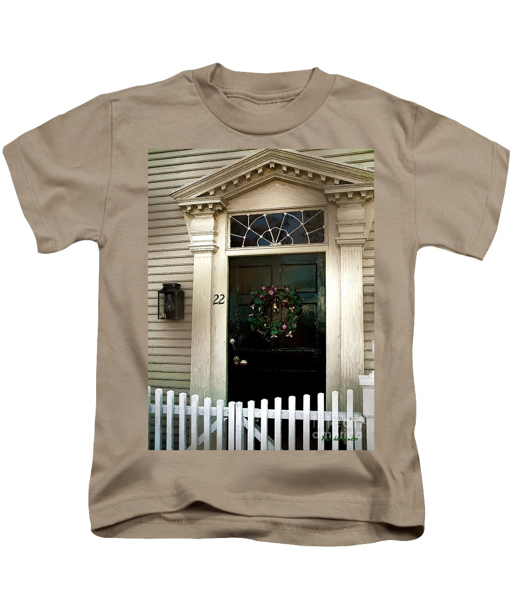 Colonial Kids T-Shirt featuring the painting Easter In Essex by RC DeWinter