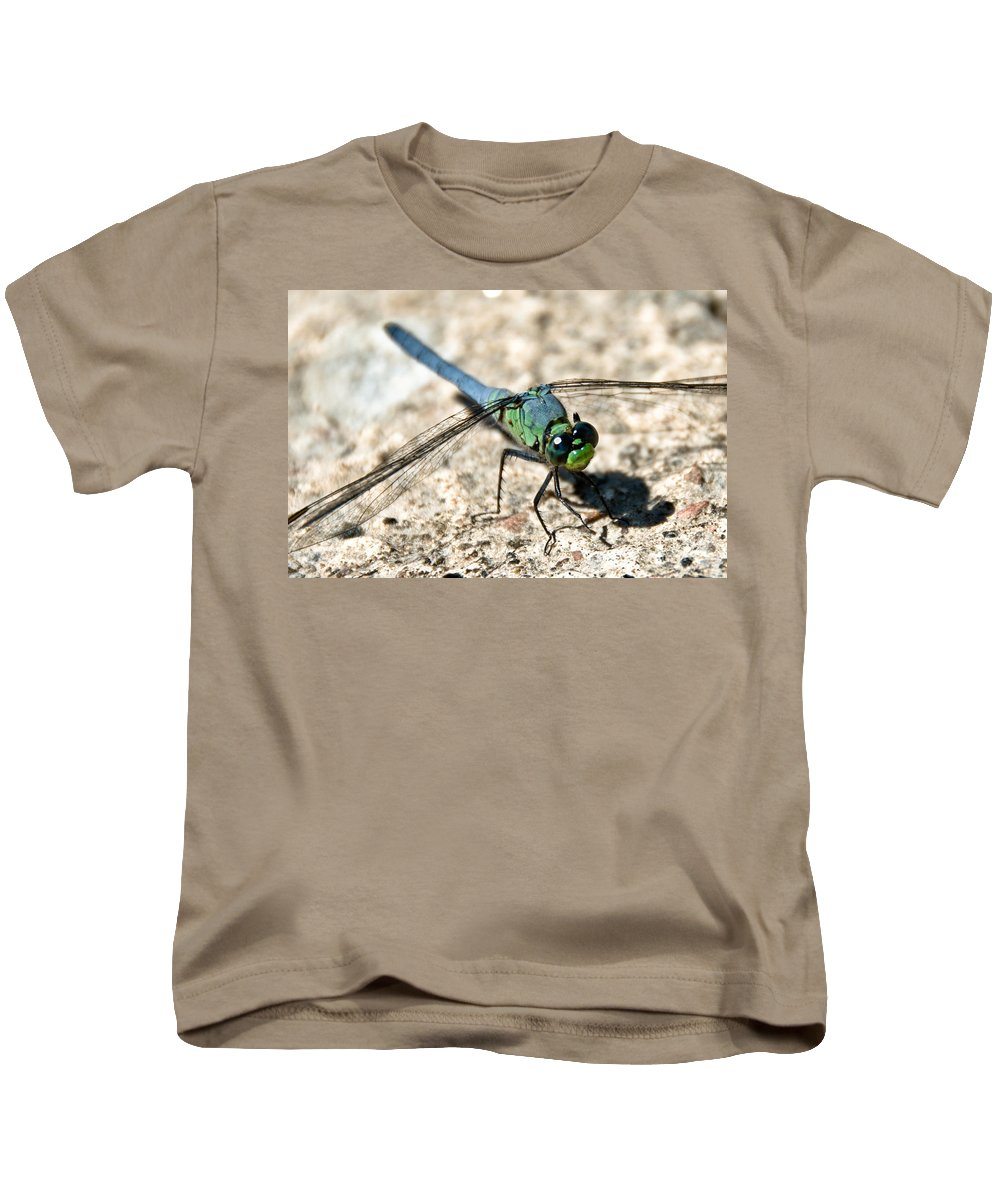 Dragonfly Kids T-Shirt featuring the photograph Eastern Pondhawk Side by Cheryl Baxter