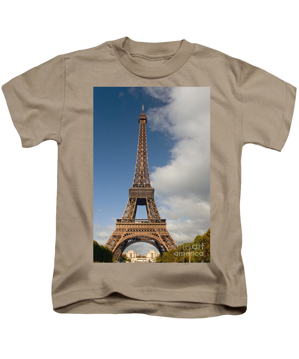 Eiffel Tower Paris France Towers City Cities Cityscape Cityscapes Landmark Landmarks Kids T-Shirt featuring the photograph Eiffel Tower by Bob Phillips