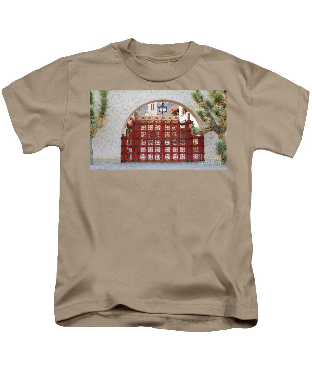 Gate Kids T-Shirt featuring the photograph Entrance To Court Yard by Kathleen Struckle
