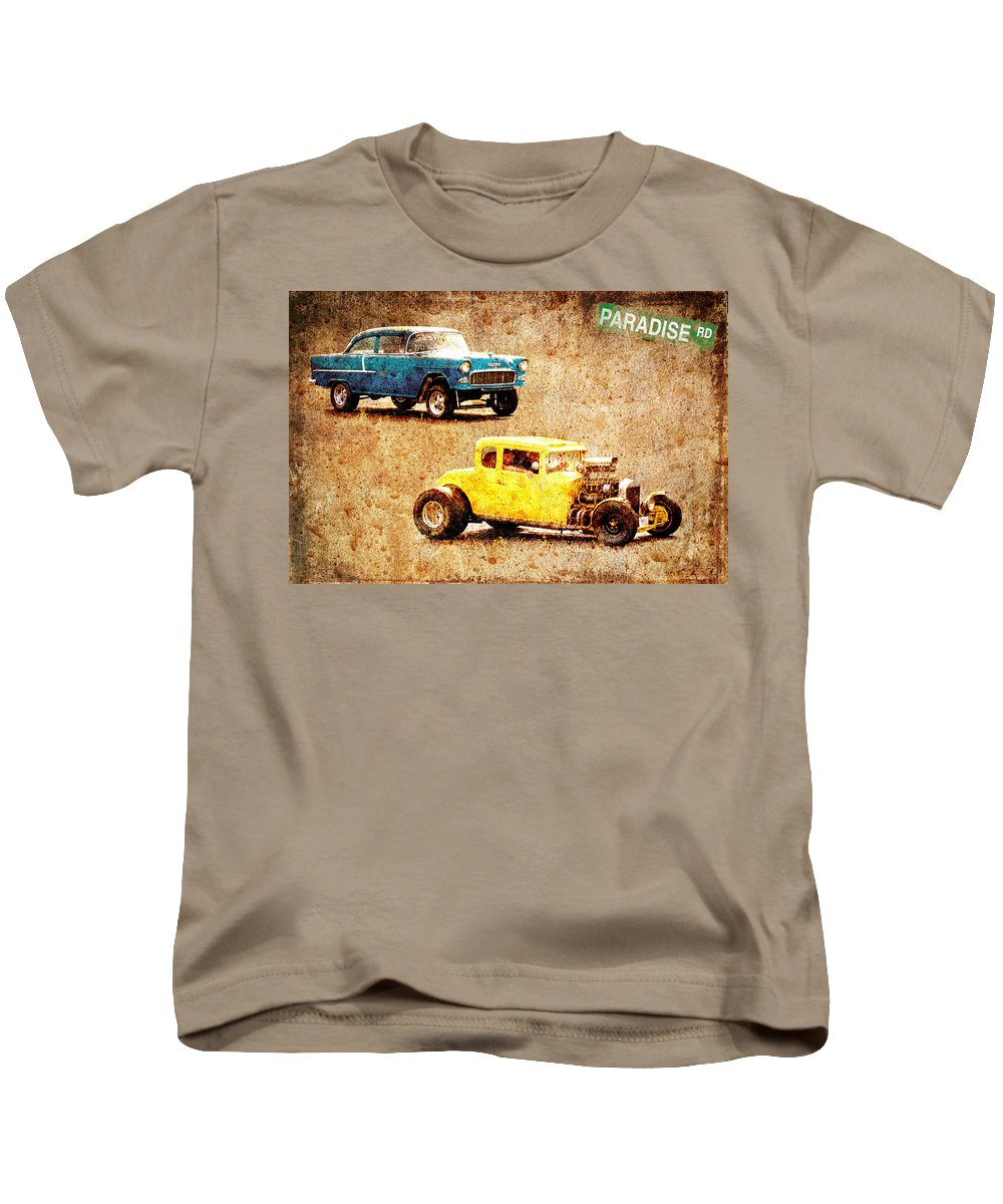 Chopped Ford Coupe Kids T-Shirt featuring the photograph Fastest Car In The Valley by Steve McKinzie