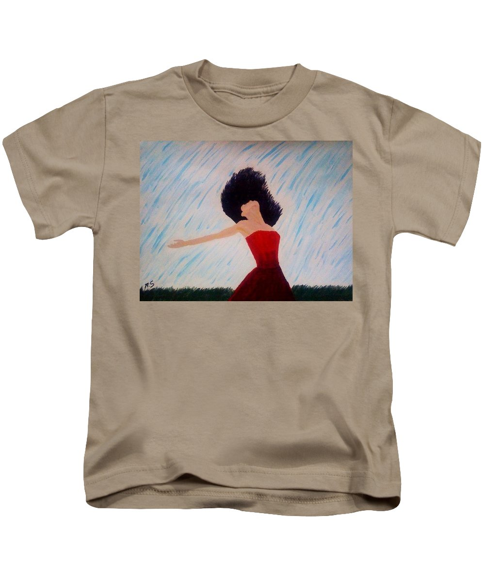 Free Kids T-Shirt featuring the painting Feel by Mya Soliman