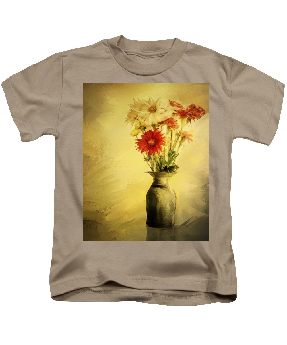 Floral Kids T-Shirt featuring the digital art Floral Expression by Diane Dugas