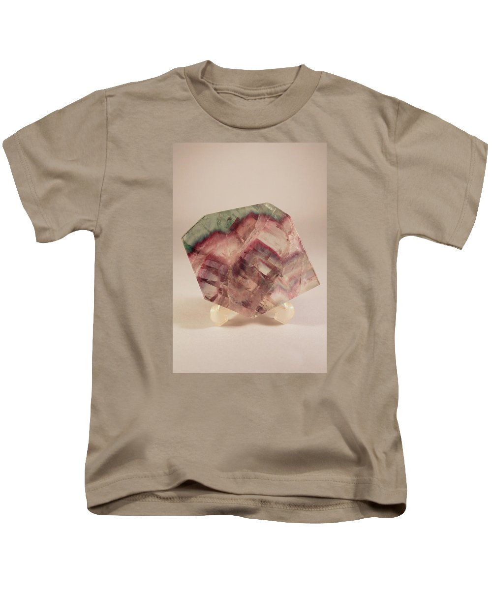 Fluorite Kids T-Shirt featuring the photograph Fluorite by Kevin F Cook