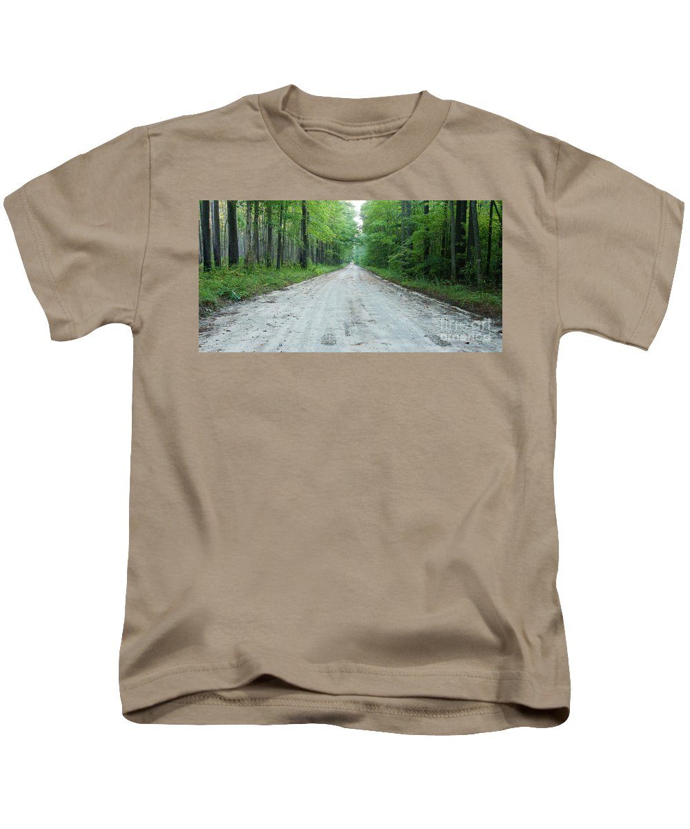 Road Kids T-Shirt featuring the photograph Forest Lane by Benjamin Reed