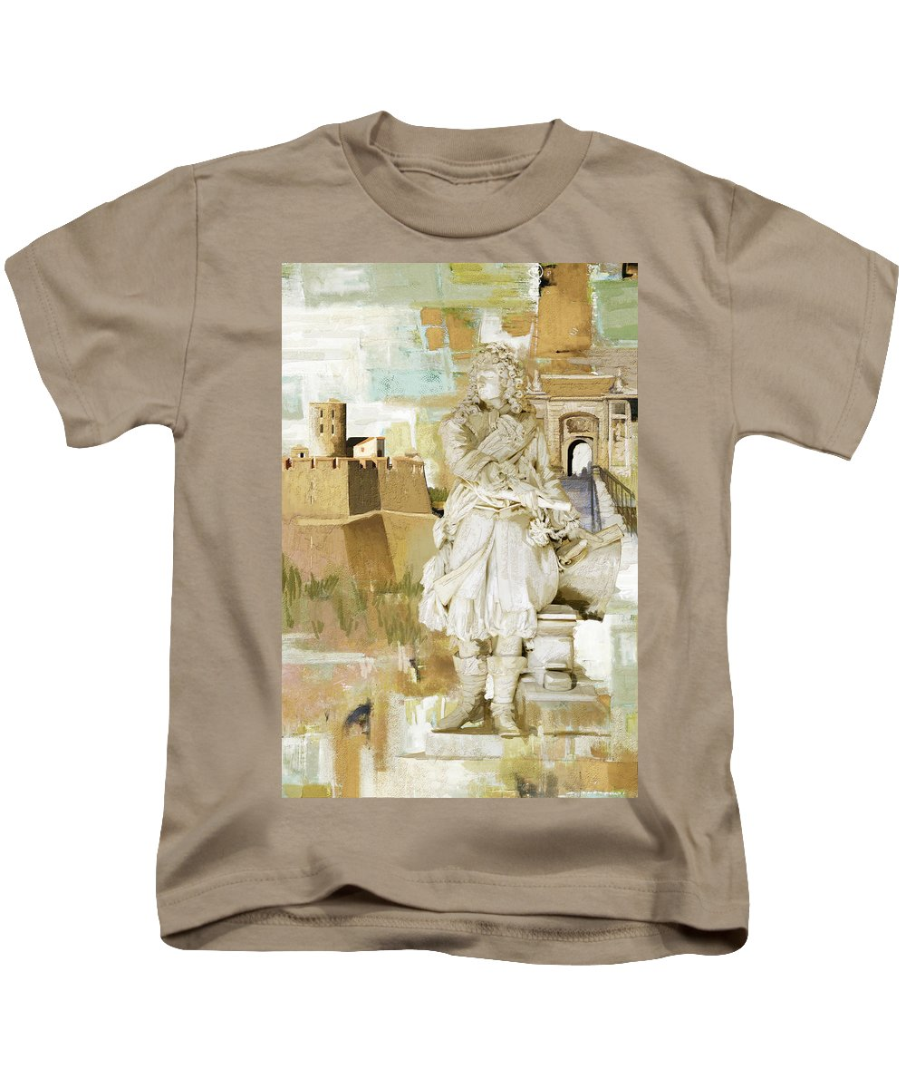 Western Ghats Kids T-Shirt featuring the painting Fortifications Of Vauban by Catf
