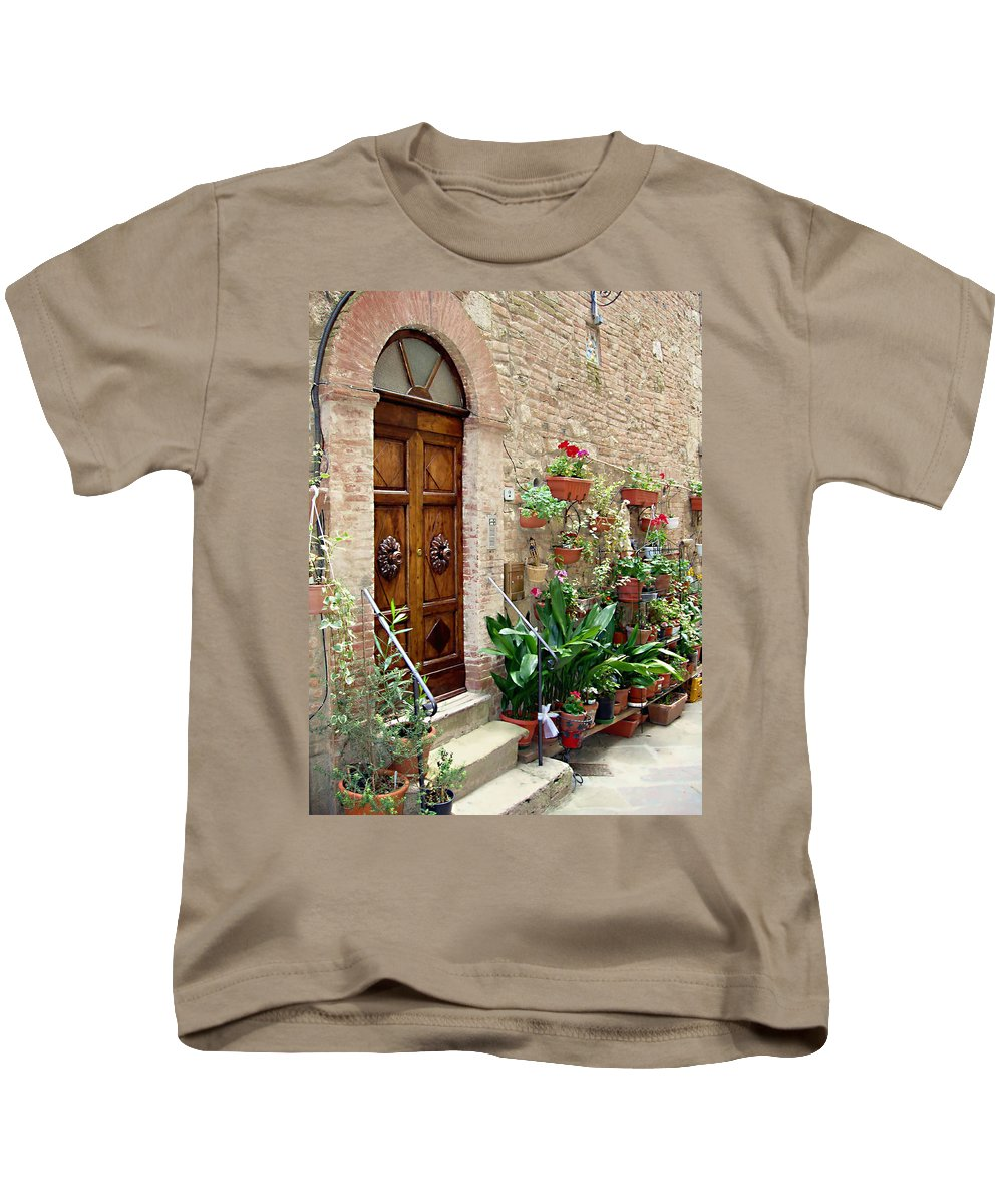Front Door Kids T-Shirt featuring the photograph Front Door by Ellen Henneke