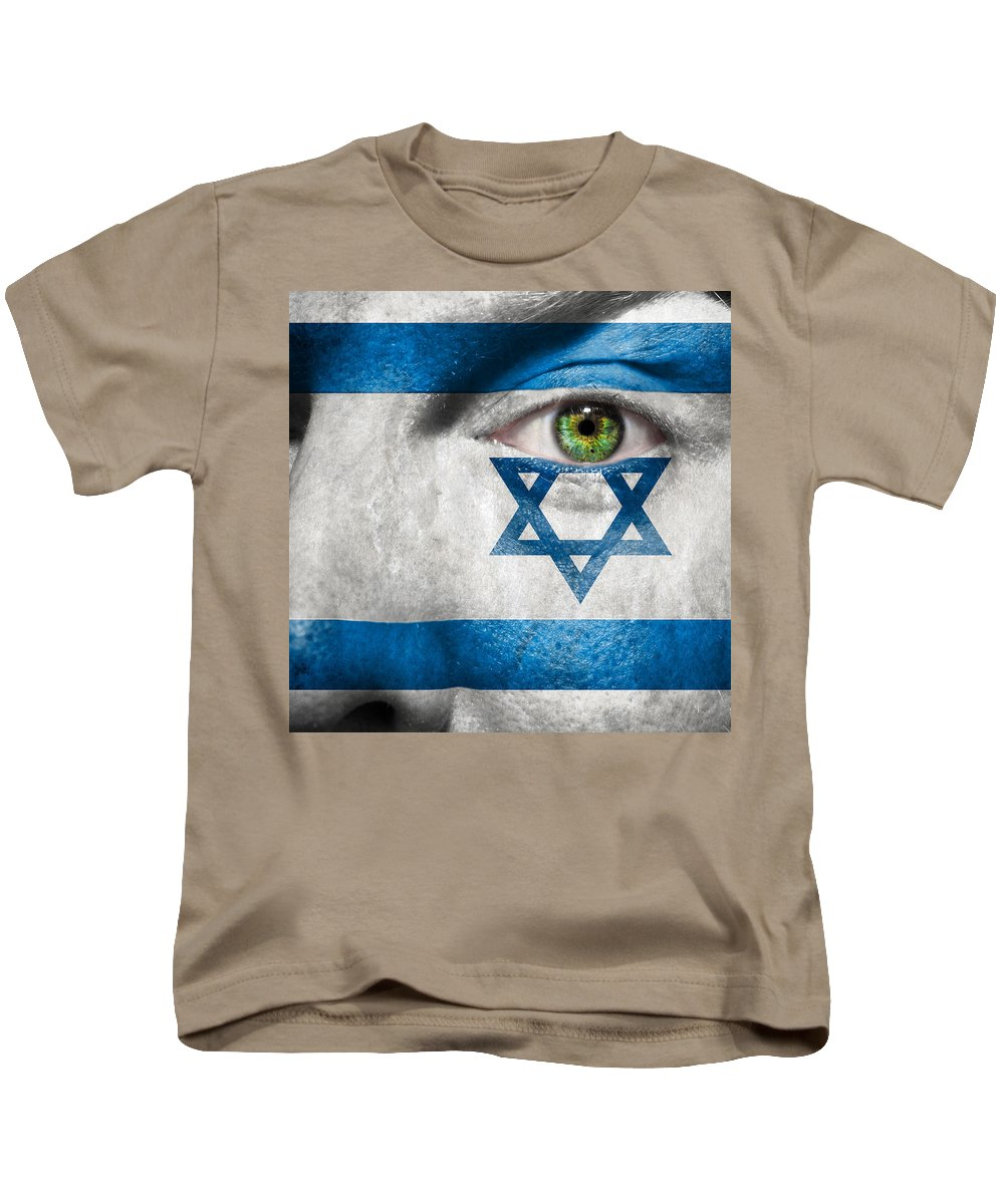 Art Kids T-Shirt featuring the photograph Go Israel by Semmick Photo