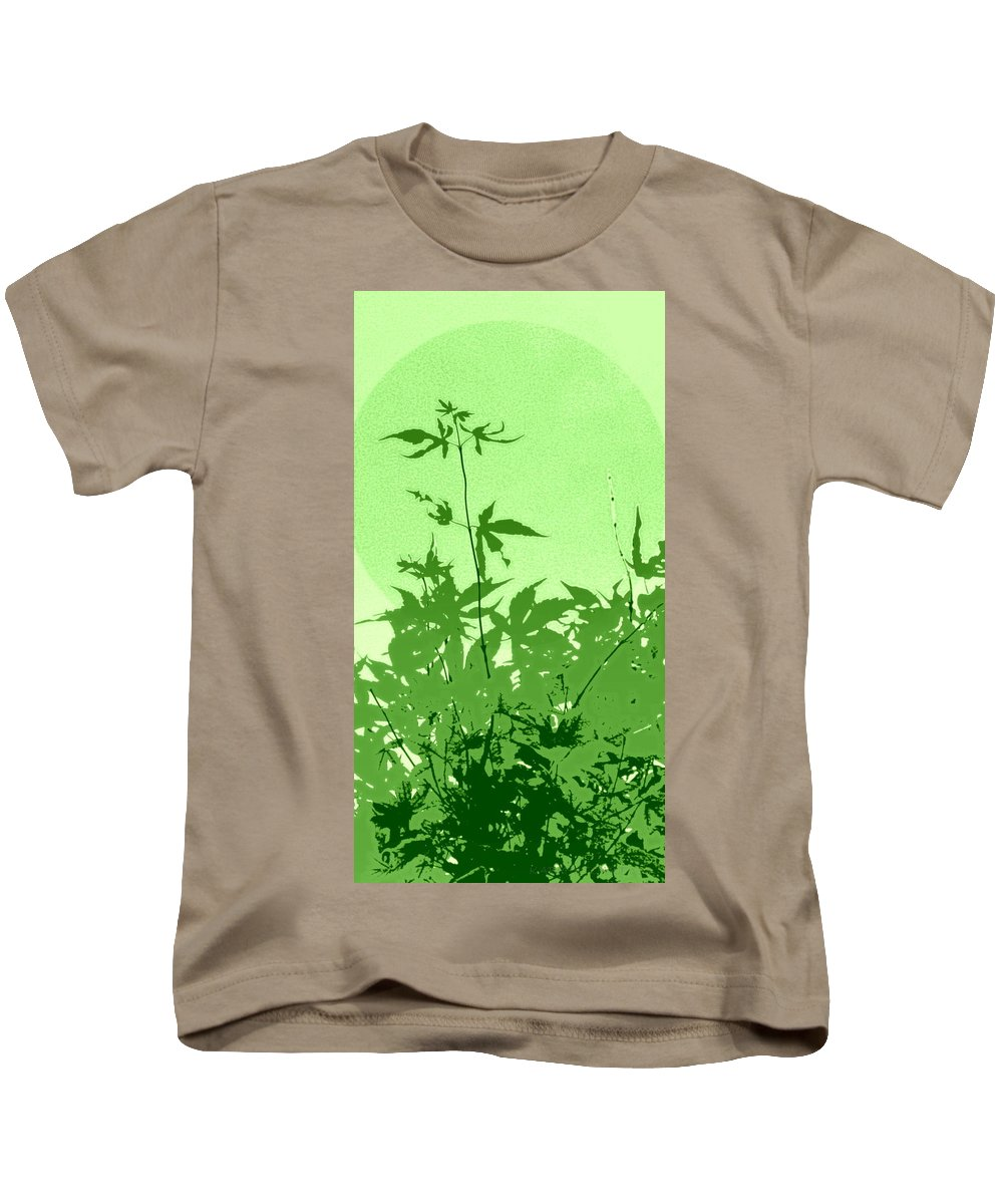 Leaves Kids T-Shirt featuring the photograph Green Green Haiku by Kathy Barney