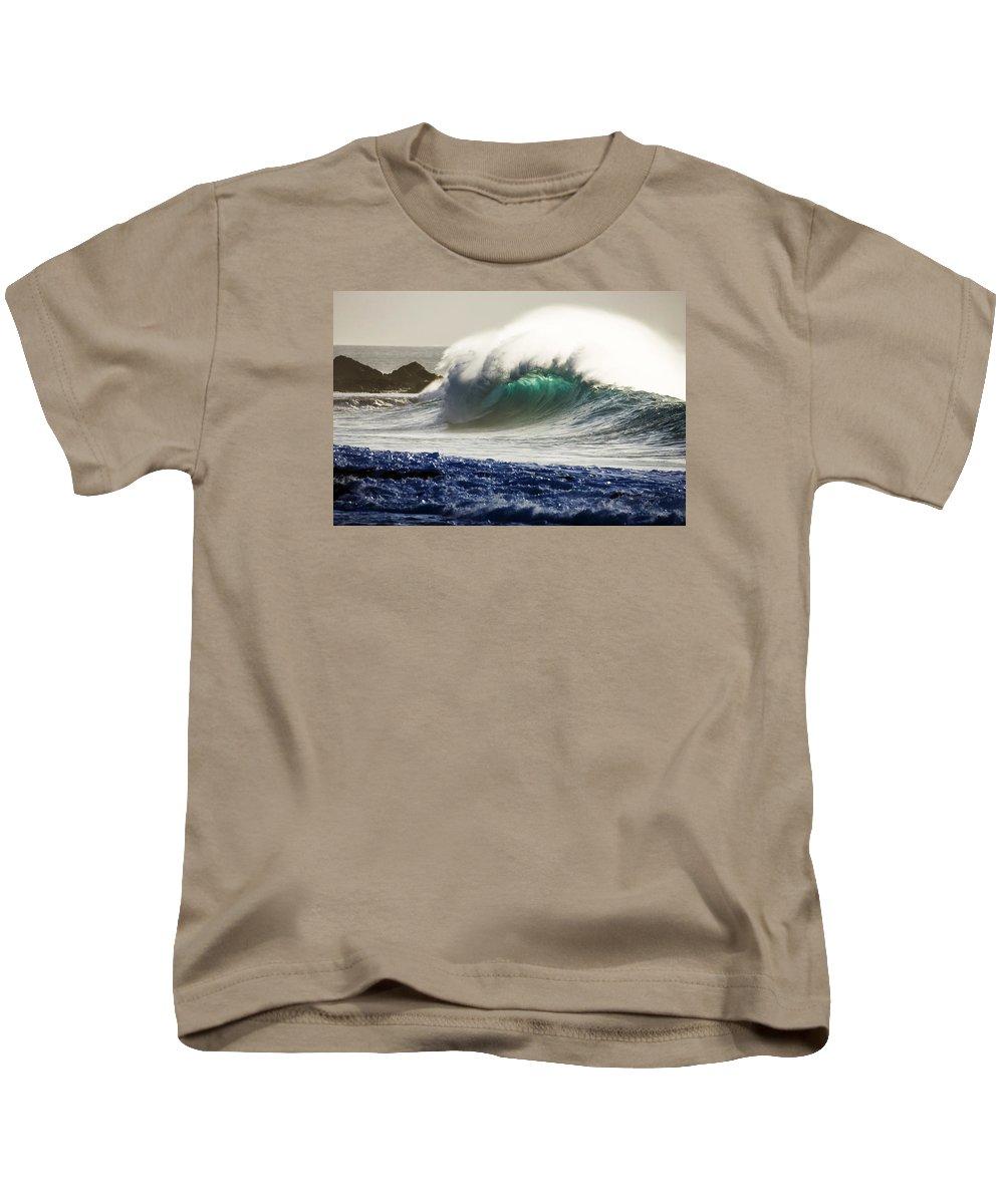Green Power Kids T-Shirt featuring the photograph Green Torch by Sean Davey