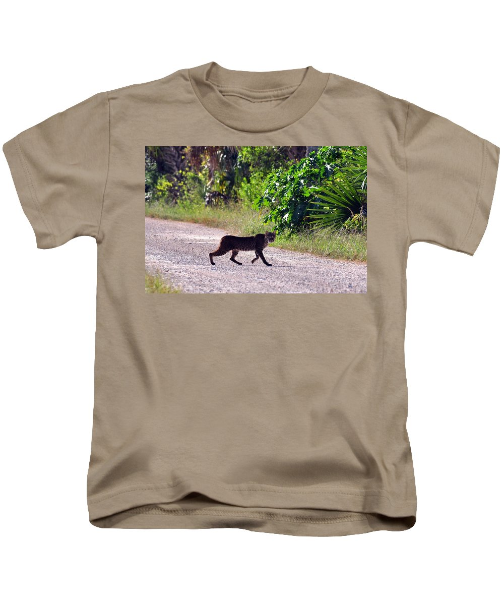 Big Bob Cat Kids T-Shirt featuring the photograph Here Kitty Kitty by Davids Digits