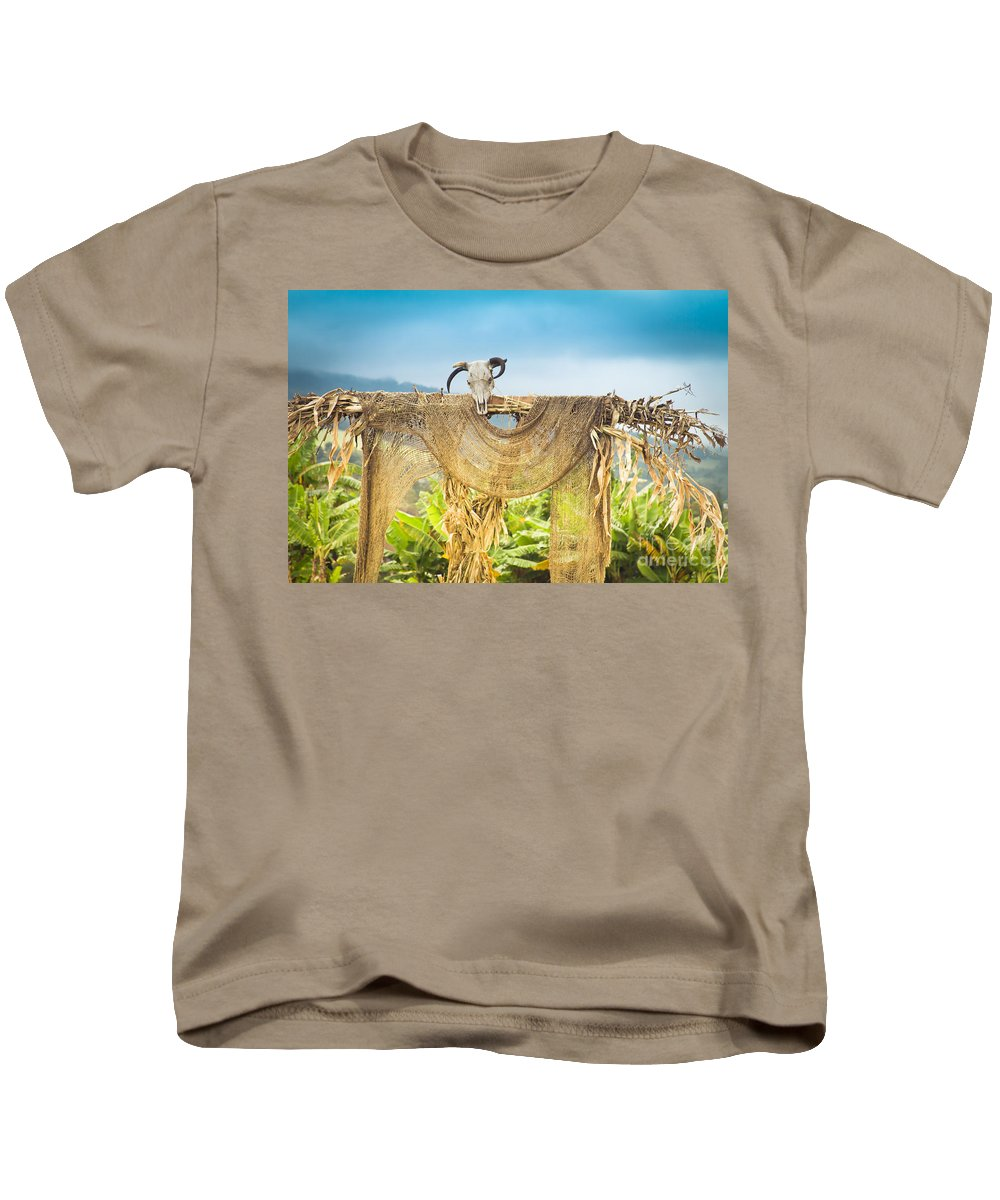 Heu-mann Kids T-Shirt featuring the photograph Heu-mann by Sharon Mau
