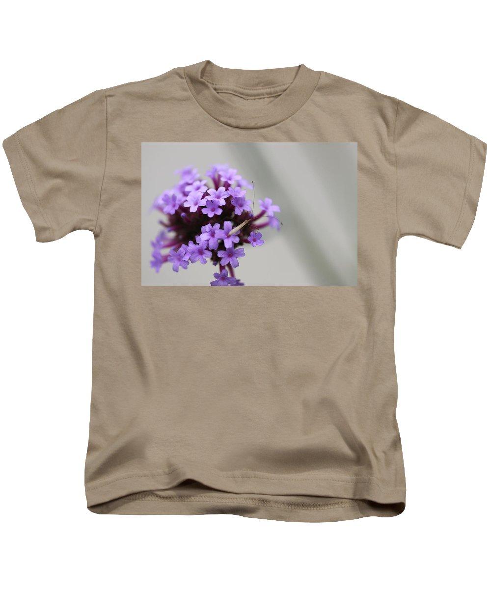 Purple Kids T-Shirt featuring the photograph Hey... by David Mayeau