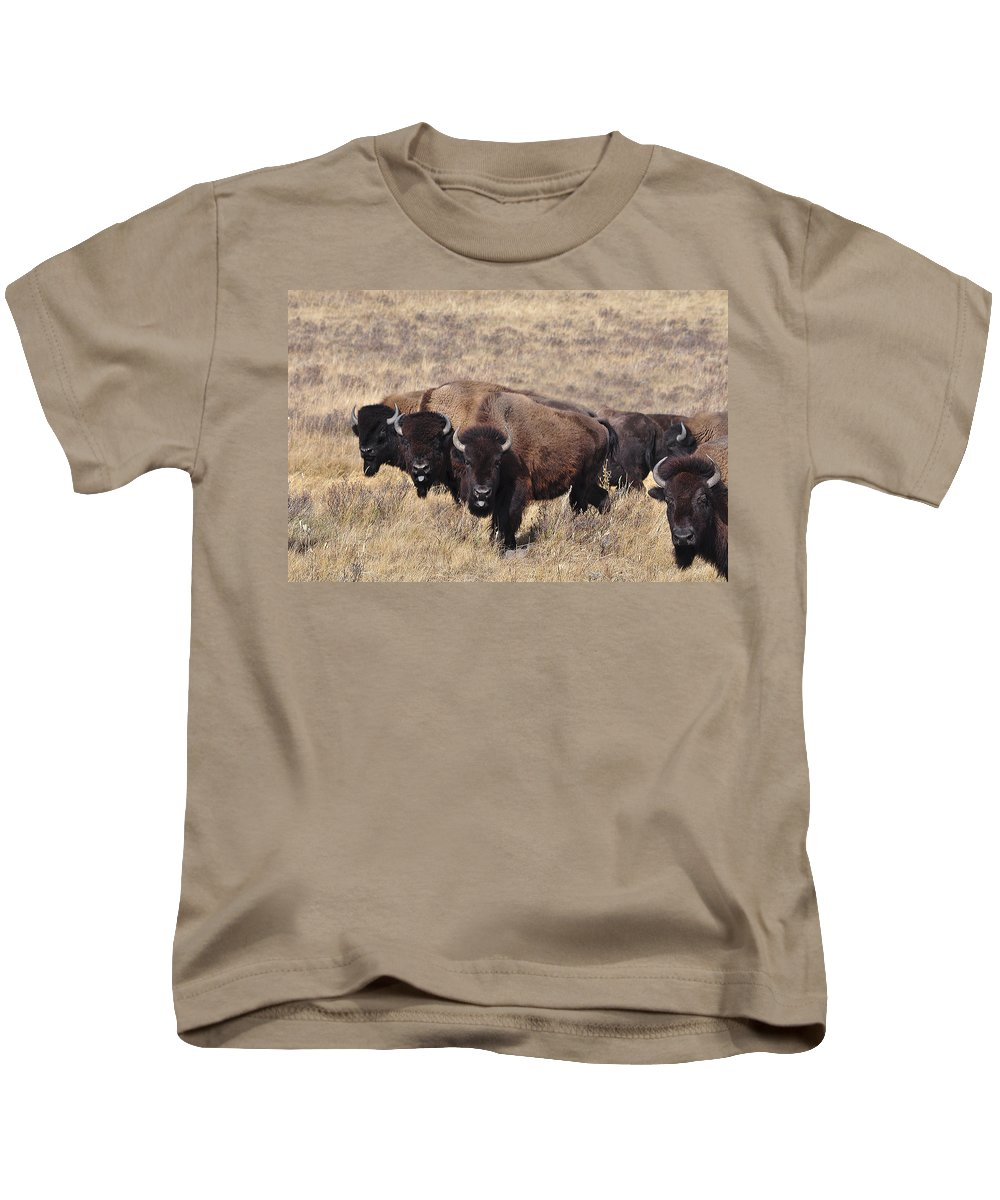 Buffalo Kids T-Shirt featuring the photograph Home On The Range by Fran Riley