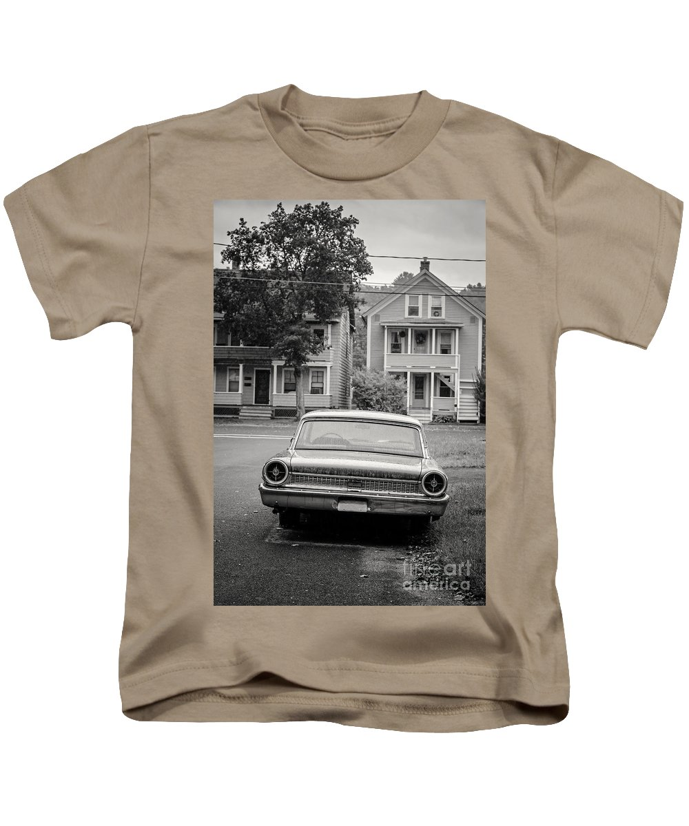 Double Kids T-Shirt featuring the photograph Hometown Usa Platium Print by Edward Fielding