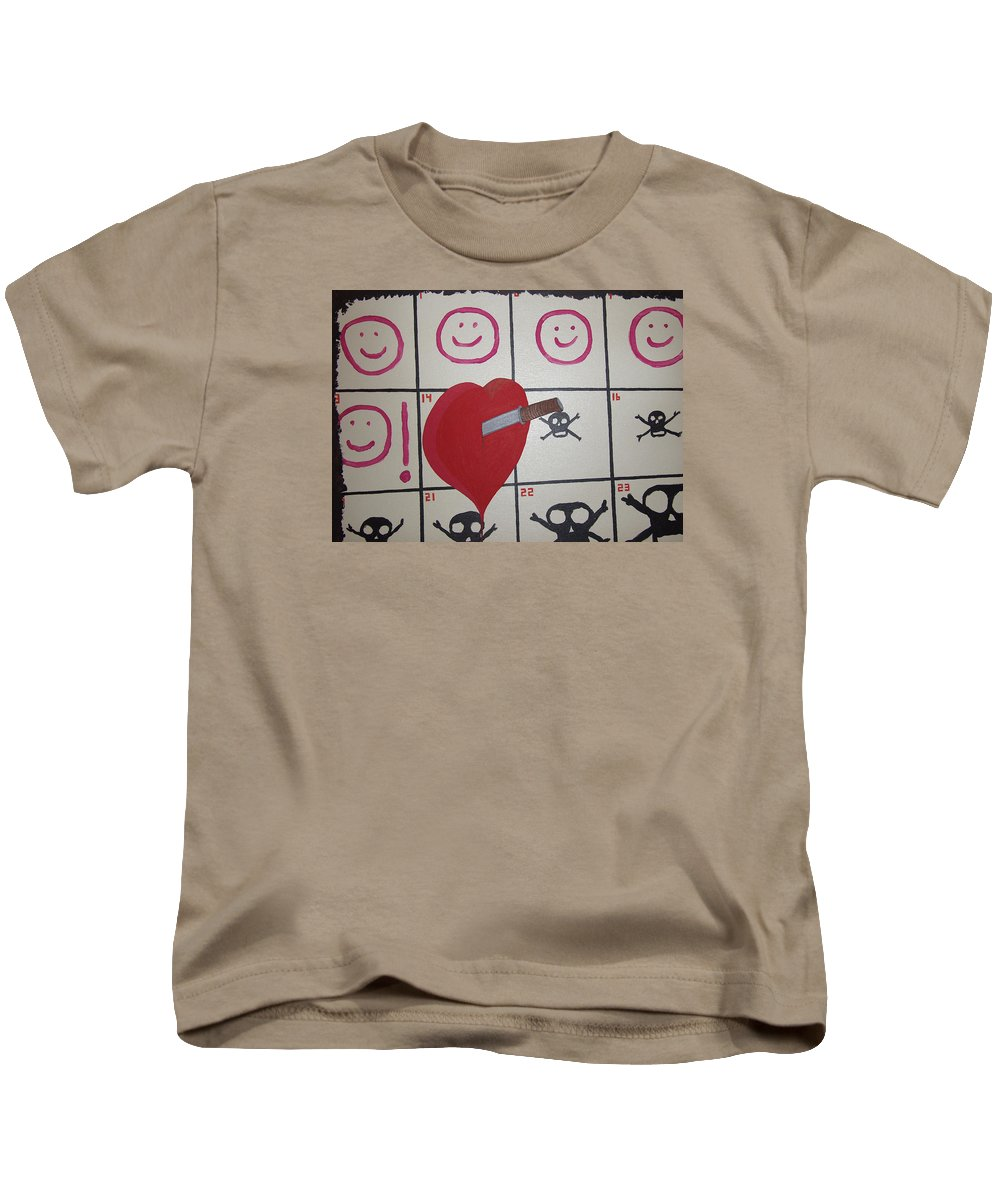 Edgy Kids T-Shirt featuring the painting Honeymoons Over by Dean Stephens