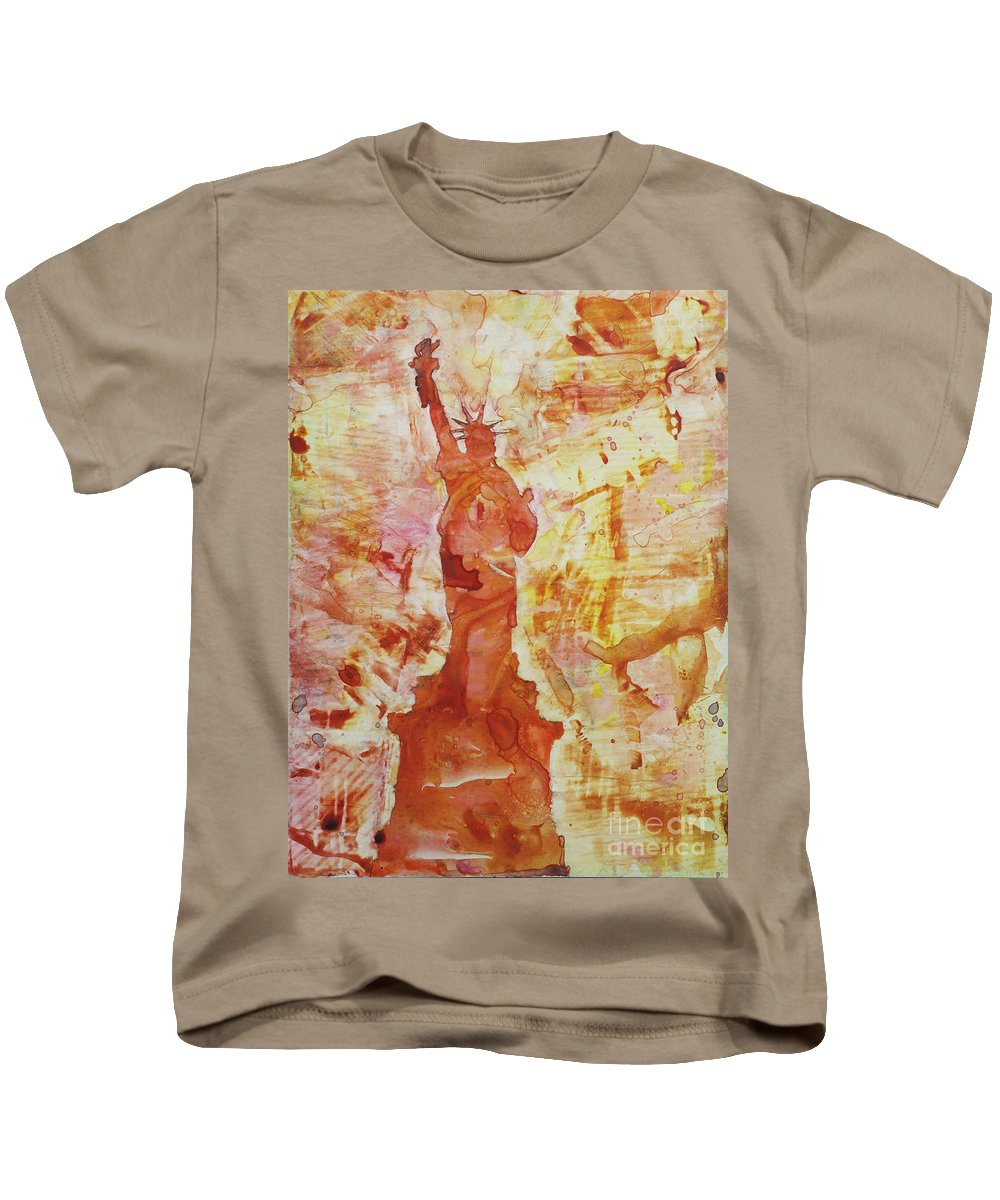 Kids T-Shirt featuring the painting How I Feel When I Smoke The Last Cigarette by Ryan Fox