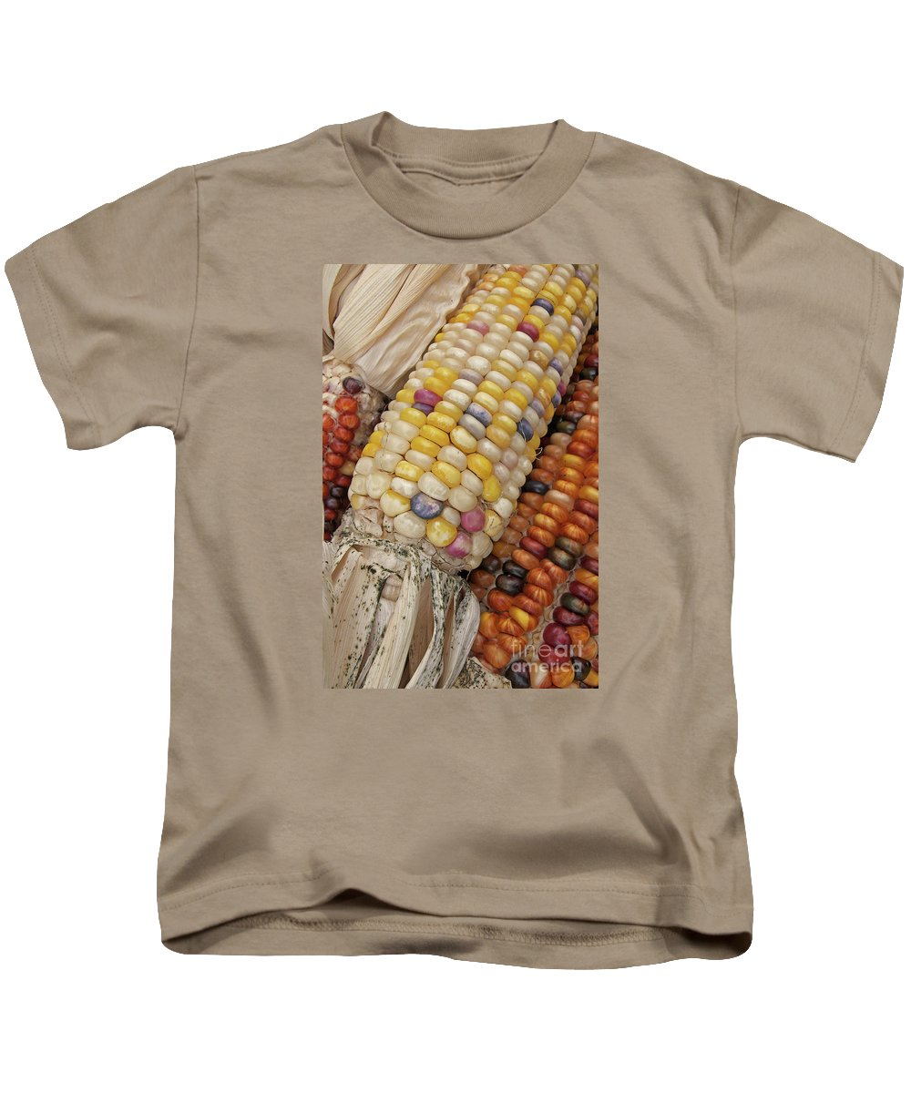 Indian Corn Kids T-Shirt featuring the photograph Indian Corn by Ann Horn