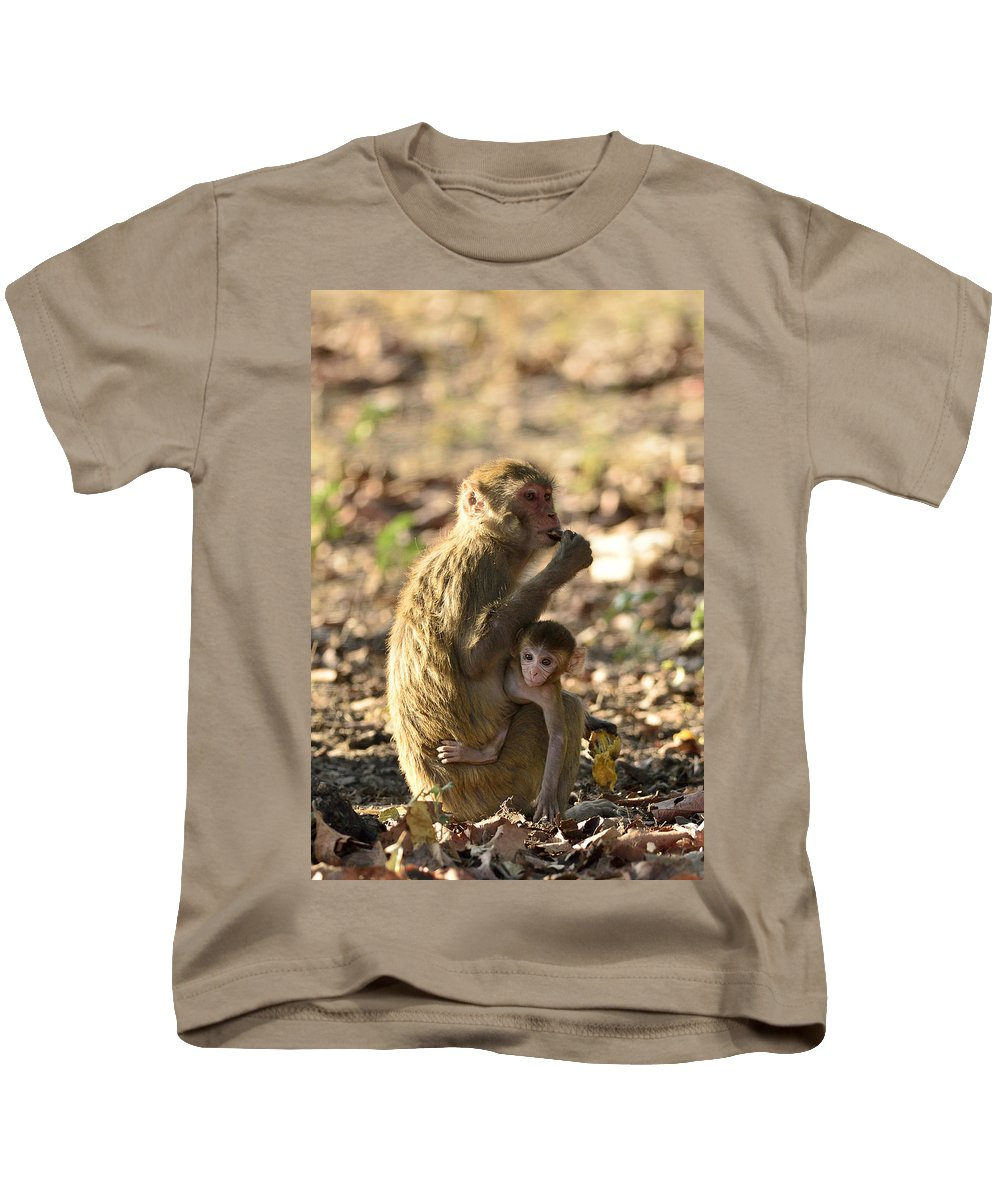 Monkey Kids T-Shirt featuring the photograph Inquisitive by Fotosas Photography