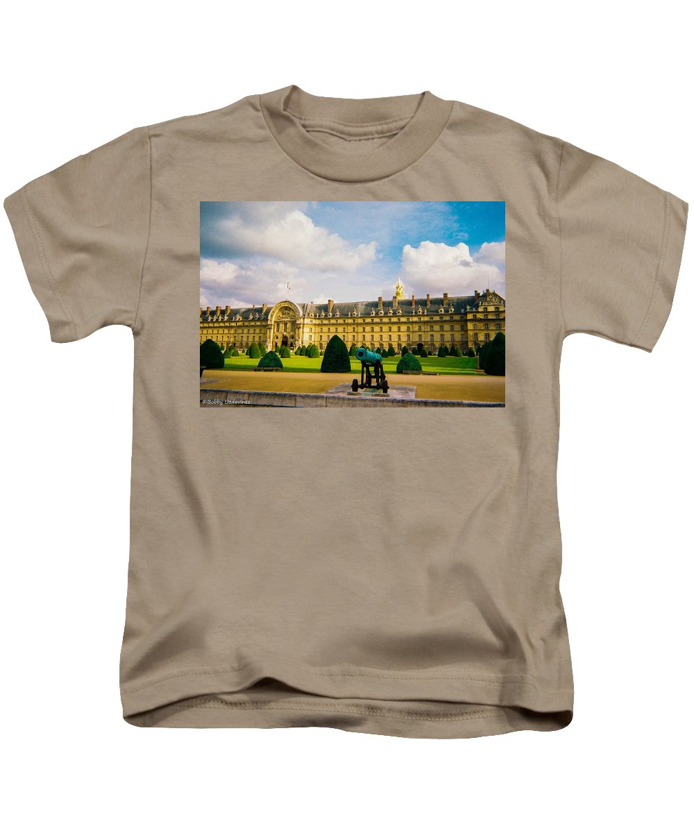 Invalides Kids T-Shirt featuring the photograph Invalides Paris France by Bobby Uzdavines