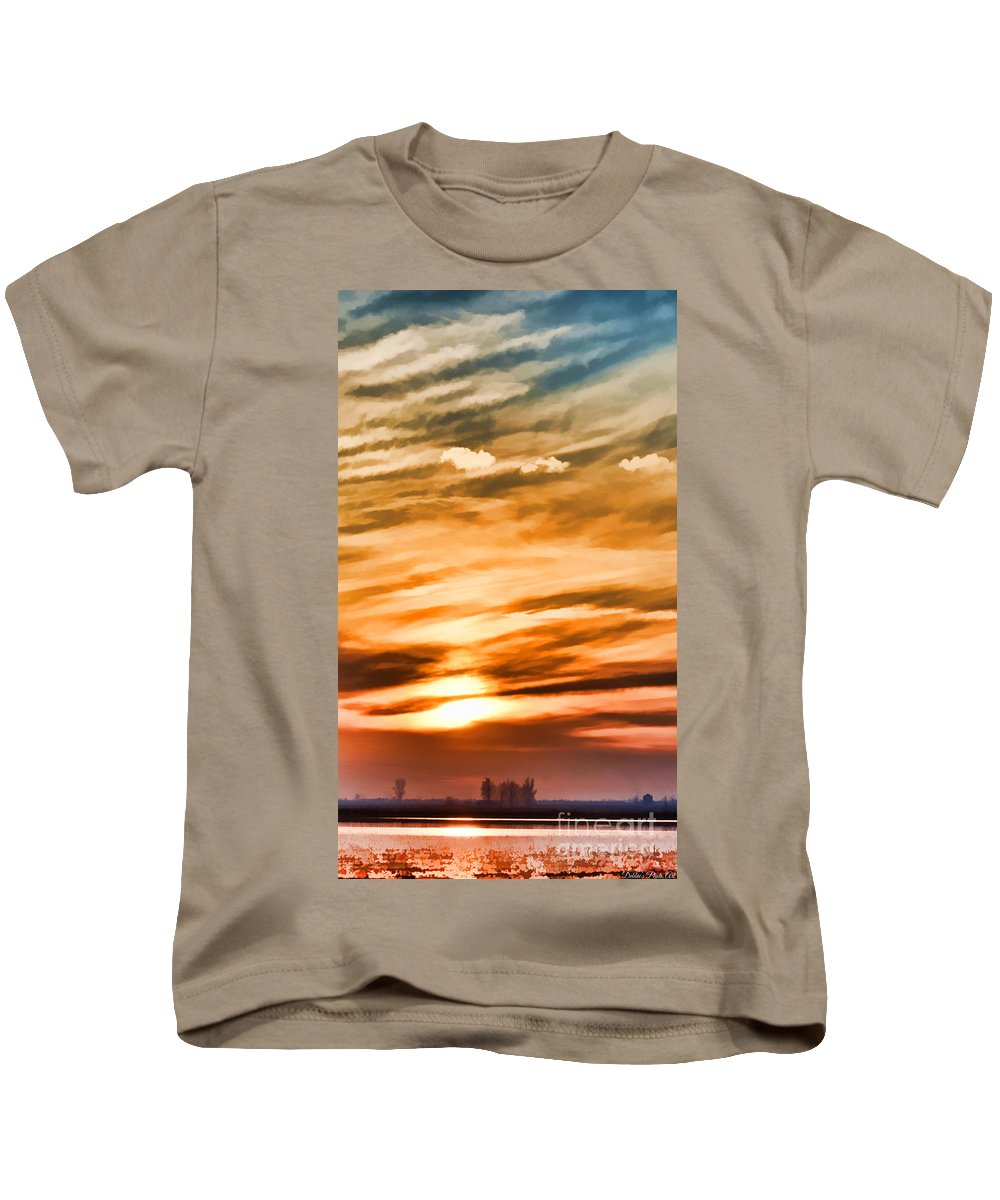 Iphone Case Kids T-Shirt featuring the photograph Iphone Sunset Digital Paint by Debbie Portwood