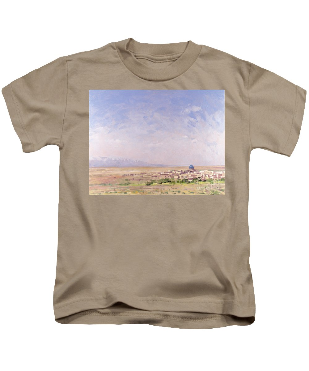 Landscape Kids T-Shirt featuring the painting Iran by Bob Brown