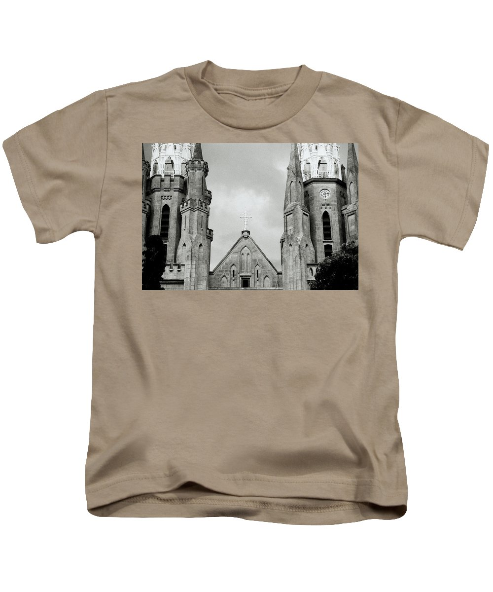 Jakarta Cathedral Kids T-Shirt featuring the photograph Jakarta Cathedral by Shaun Higson