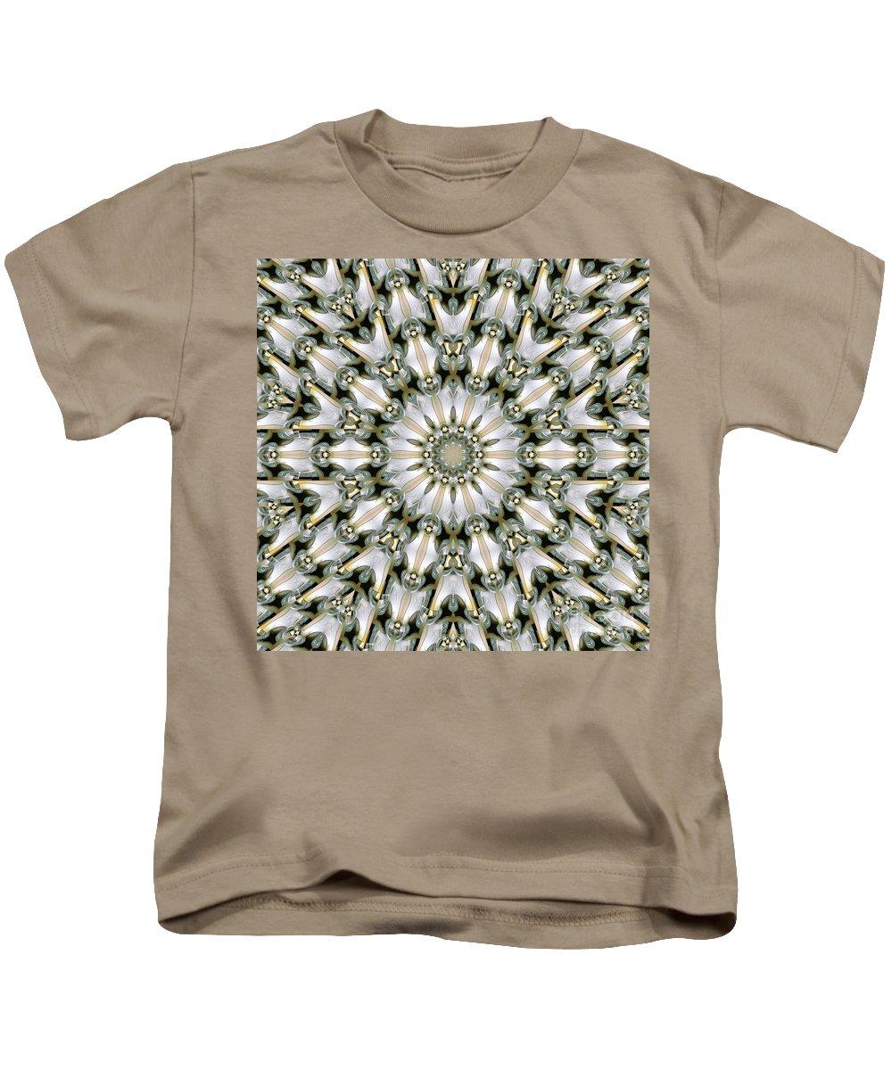 Kaleidoscope Kids T-Shirt featuring the digital art Kaleidoscope 28 by Ron Bissett