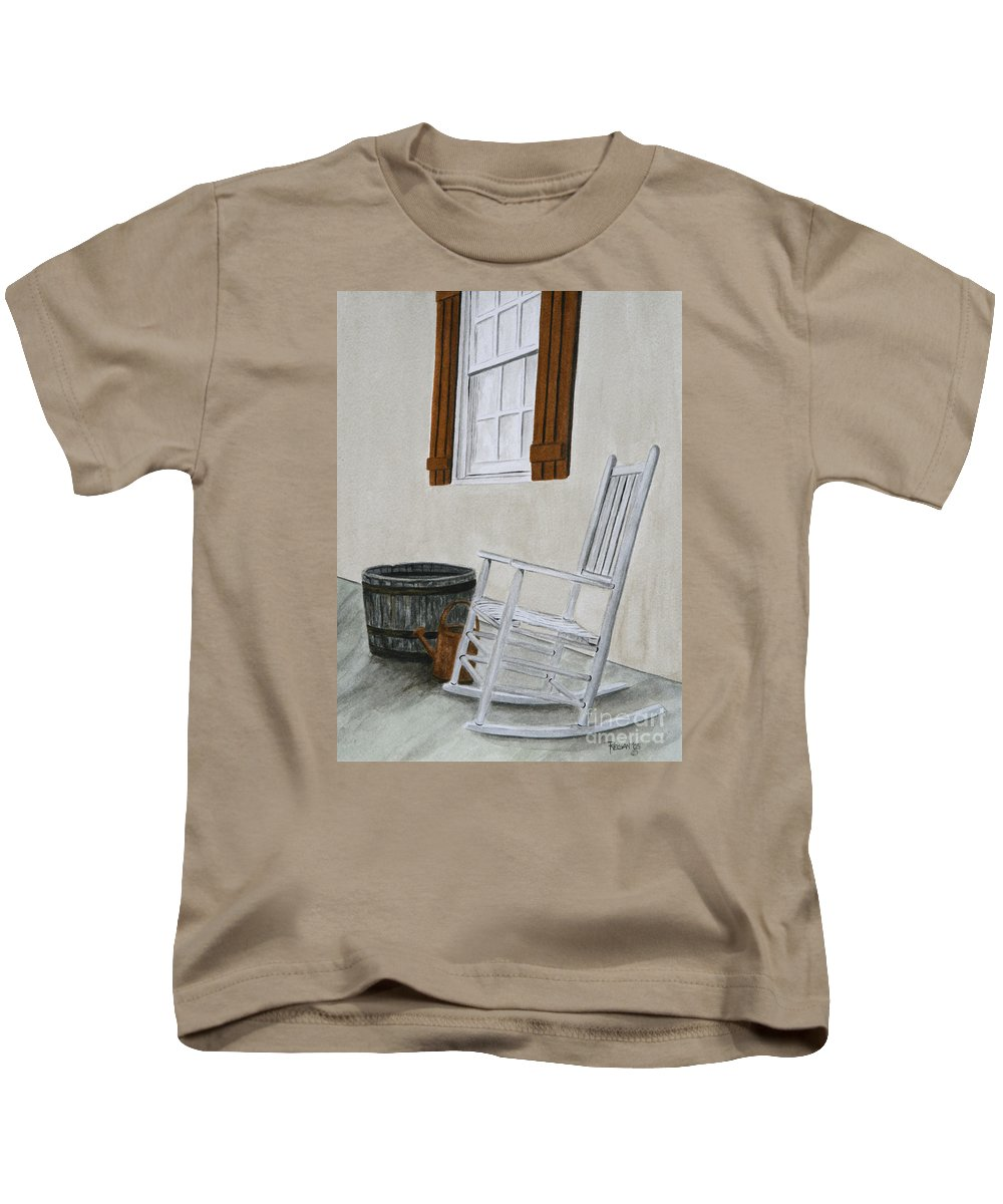 Americana Kids T-Shirt featuring the painting Lazy Day by Regan J Smith