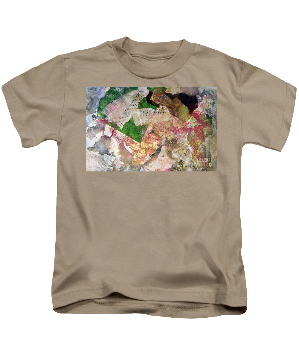 Water Color Collage Kids T-Shirt featuring the painting Let The Two Of Us Be One by Yael VanGruber
