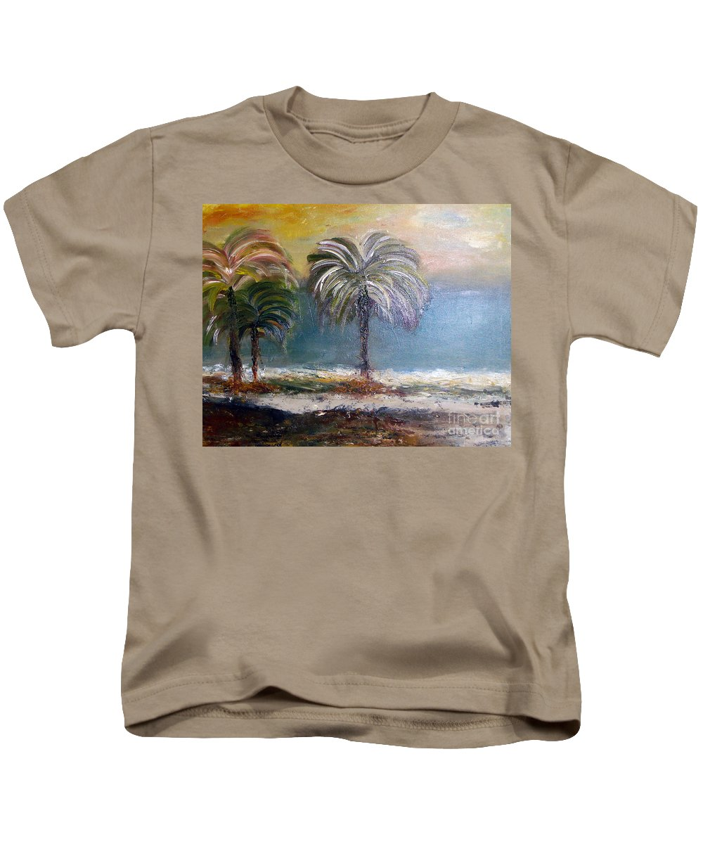 Oil Painting Kids T-Shirt featuring the painting Life Is Full Of Romance by Yael VanGruber