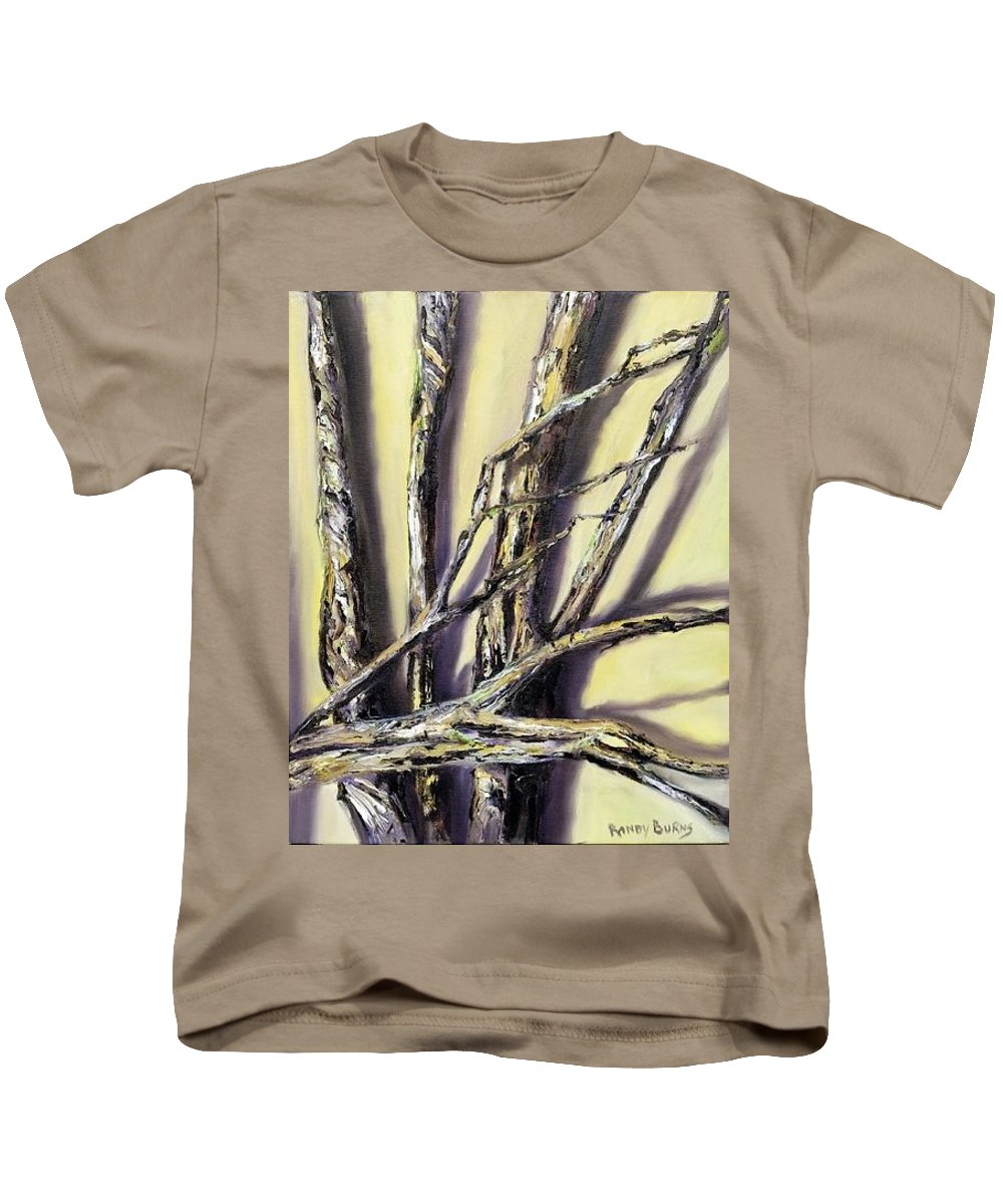 Limbs Kids T-Shirt featuring the painting Limbs Found After The Tornado by Randy Burns