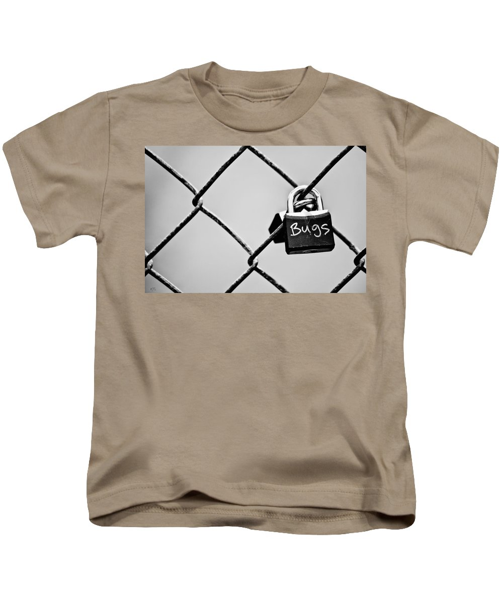Lock Kids T-Shirt featuring the photograph Locked Together by Karol Livote